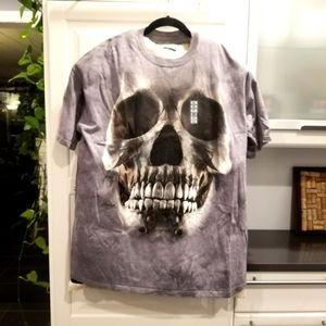 NEW Skull Tee Shirt White Mountain